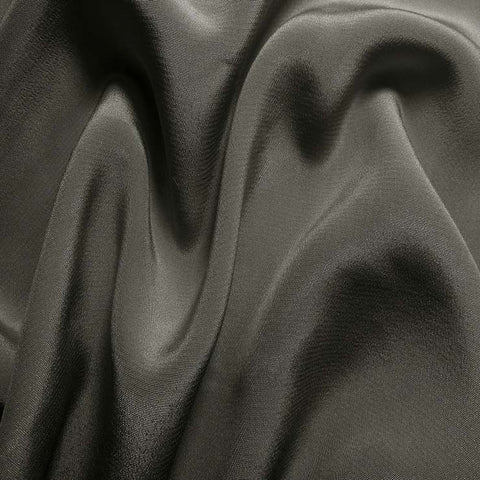 Silk Crepe de Chine Gunmetal Gray