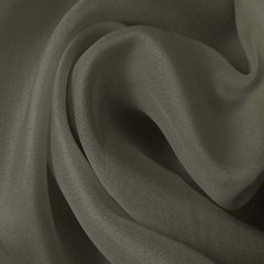 Silk Satin Face Organza Gunmetal Gray
