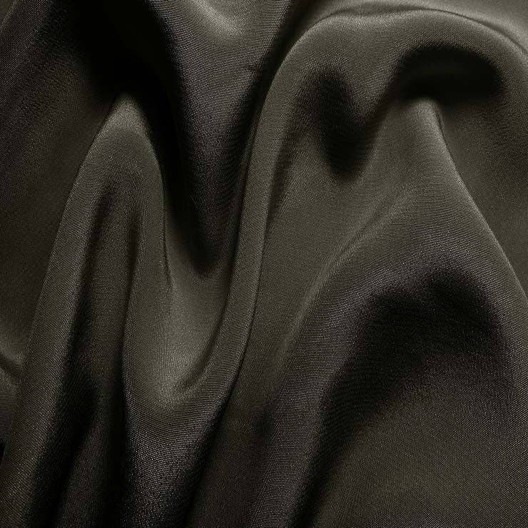 Silk Crepe de Chine Charcoal Gray