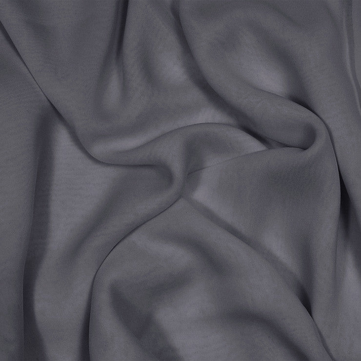 Silk Stretch Chiffon Charcoal Gray