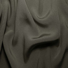 Silk Crepe Back Satin Charcoal Gray