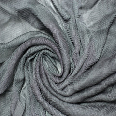 Silk Tulle Charcoal Gray