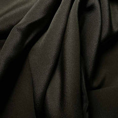 Silk 4 Ply Woven Crepe Charcoal Gray