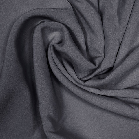 Silk Stretch 4 Ply Crepe Charcoal Gray