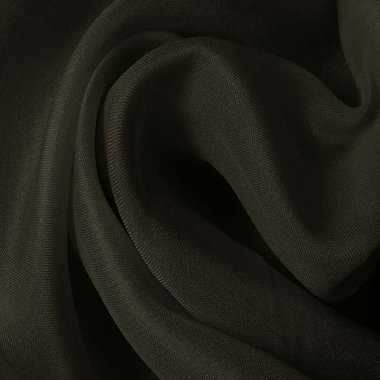 Silk Satin Face Organza Charcoal Gray