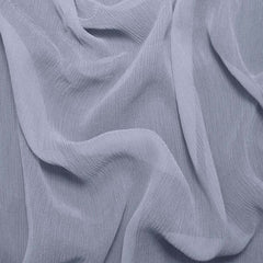 Silk Crinkle Chiffon Blue Dawn