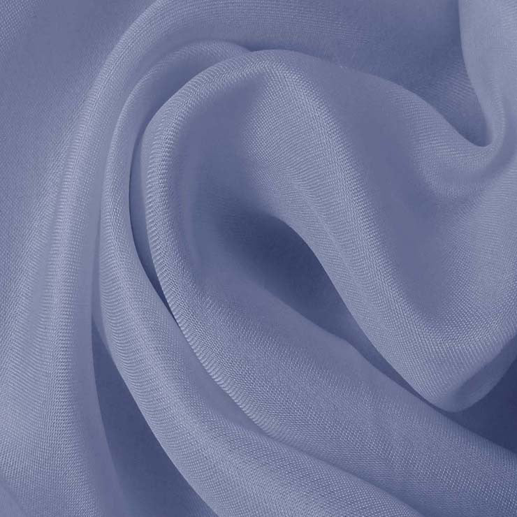 Silk Satin Face Organza Blue Dawn
