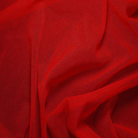 Nylon/Spandex Sheer Stretch Mesh 25 Cherry - NY Fashion Center Fabrics