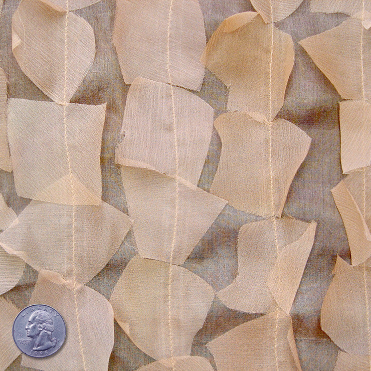 Silk Chiffon Novelty Petal Fabric 25 Wheat