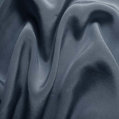 Silk Crepe de Chine Blue Gray