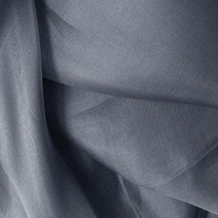 Silk Organza Blue Gray
