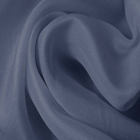 Silk Satin Face Organza Blue Gray