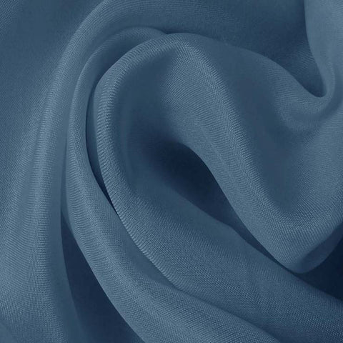 Silk Satin Face Organza Blue Lagoon
