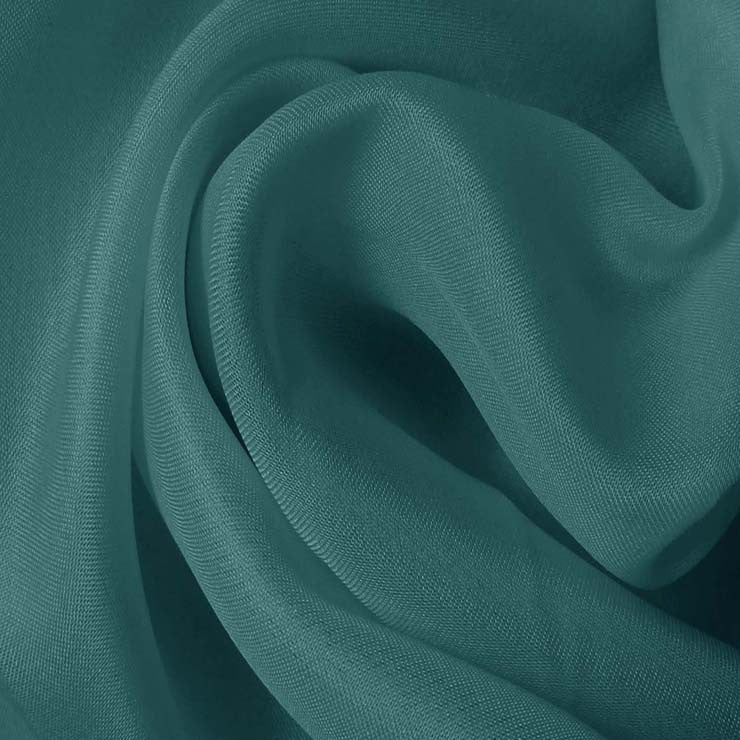 Silk Satin Face Organza Marine Blue