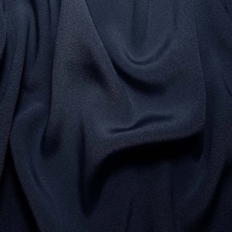 Silk Crepe Back Satin Dark Blue