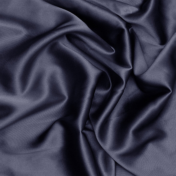 Silk Stretch Charmeuse Dark Blue