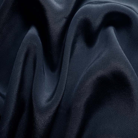 Silk Crepe de Chine Dark Blue
