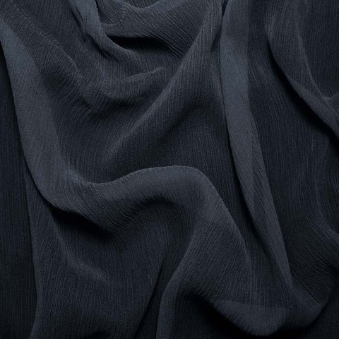 Silk Crinkle Chiffon Dark Blue