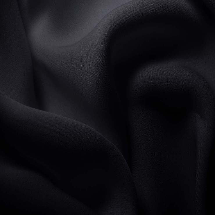 Silk Double Georgette Dark Blue