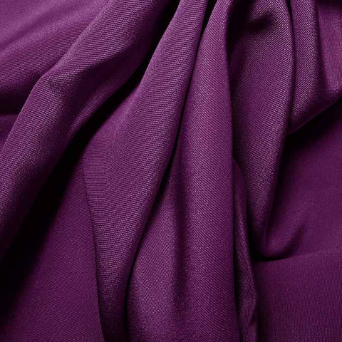 Silk 4 Ply Woven Crepe Violet