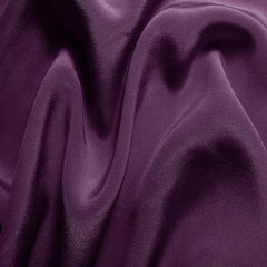 Silk Crepe de Chine Grape Purple