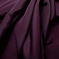 Silk 4 Ply Woven Crepe Grape Purple