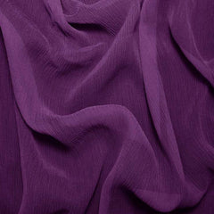Silk Crinkle Chiffon Grape Purple