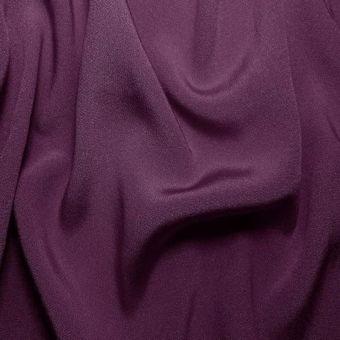 Silk Crepe Back Satin Grape Purple