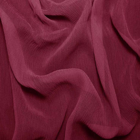 Silk Crinkle Chiffon Dark Rose