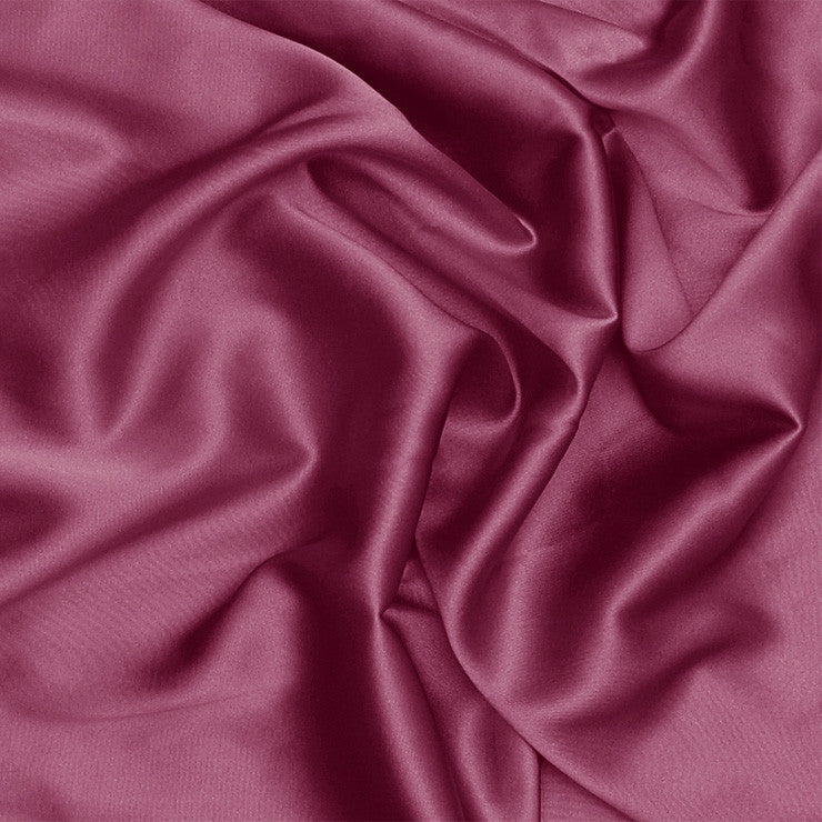 Silk Stretch Charmeuse Dark Rose