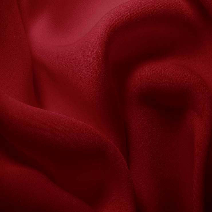 Silk Double Georgette Dark Rose