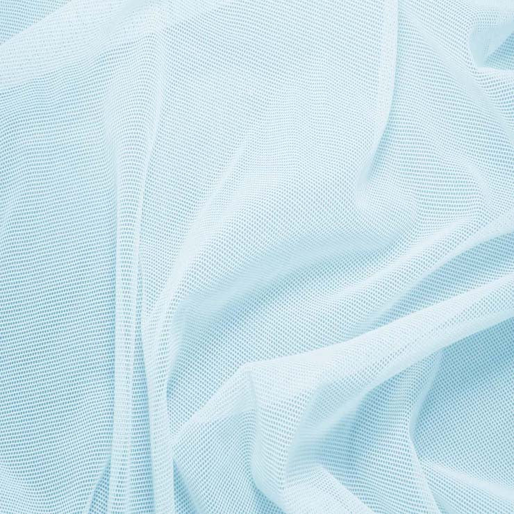 Nylon/Spandex Sheer Stretch Mesh 26 BabyBlue - NY Fashion Center Fabrics