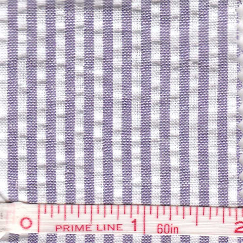 Cotton Blend Seersucker - 30 Yard Bolt 26 Narrow Violet - NY Fashion Center Fabrics