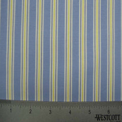 100% Cotton Fabric Stripes Collection #13 26 Y D0241BLU