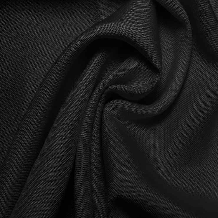 Super Fine Italian Douppioni Fabric 2605 Black