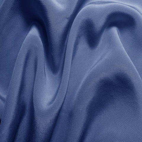 Silk Crepe de Chine Polo Blue