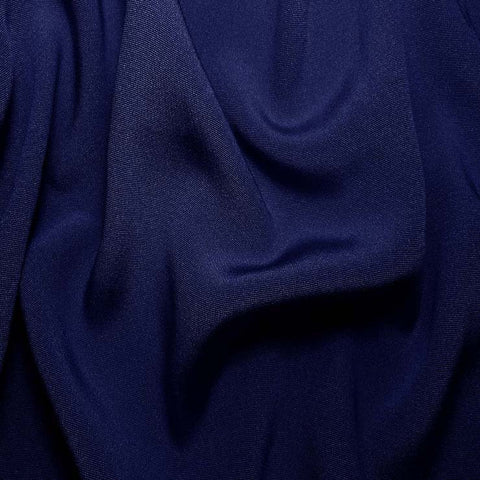 Silk Crepe Back Satin Blue Jewel