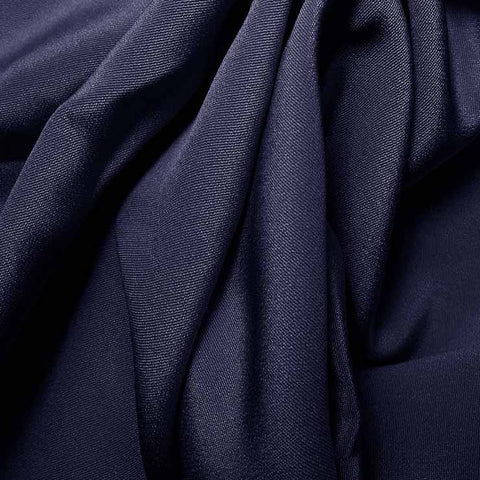 Silk 4 Ply Woven Crepe Blue Jewel