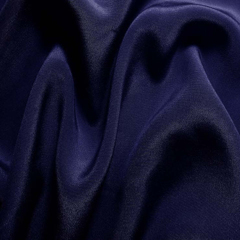 Silk Crepe de Chine Blue Jewel