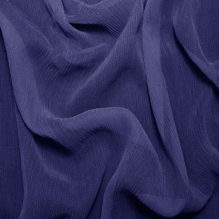 Silk Crinkle Chiffon Blue Jewel