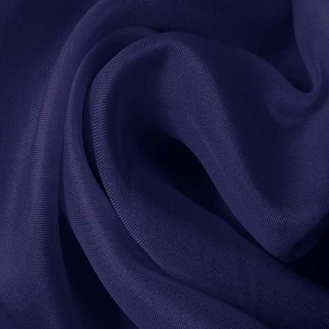 Silk Satin Face Organza Blue Jewel