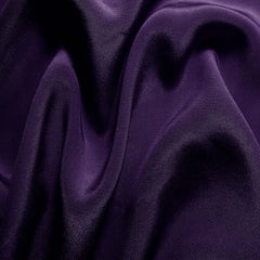 Silk Crepe de Chine Dark Purple