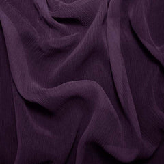 Silk Crinkle Chiffon Dark Purple