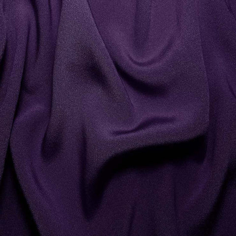 Silk Crepe Back Satin Dark Purple