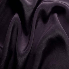 Silk Crepe de Chine Dark Plum