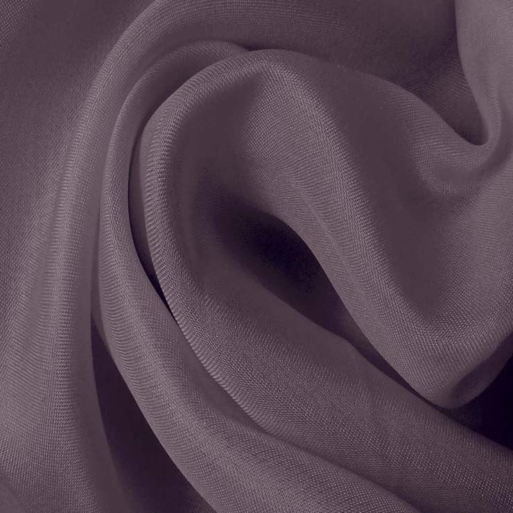 Silk Satin Face Organza Lavender Gray