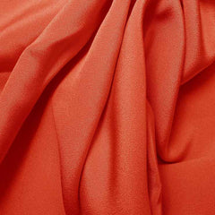 Silk 4 Ply Woven Crepe Cayenne Red