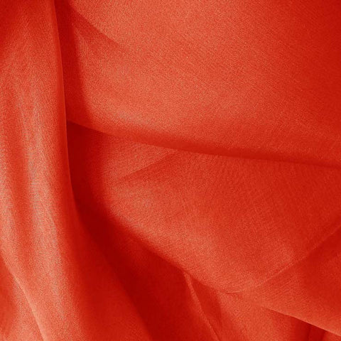 Silk Organza Cayenne Red