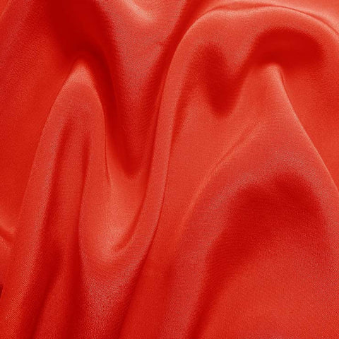 Silk Crepe de Chine Cayenne Red