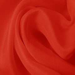 Silk Satin Face Organza Cayenne Red
